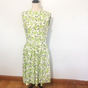Vintage McMullen's 1950's Green Floral Dress